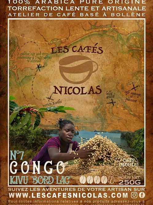 CONGO Kivu Bord du lac - Les cafés Nicolas