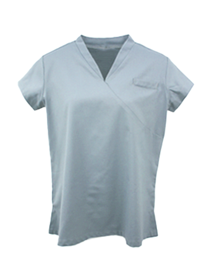 Ladies Survival Selection Scrub Top - Light Grey