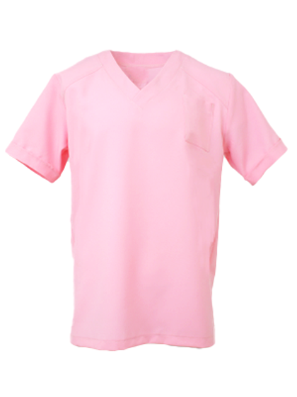 Men's Natural Selection Scrub Top - Pastel Pink
