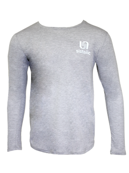 Men's Muscle Long Sleeve T-shirt - Grey Melange