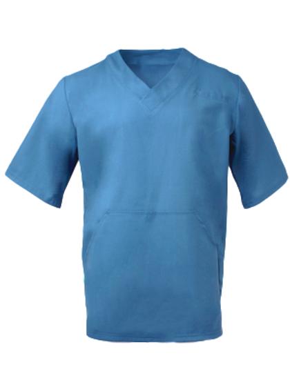 Men's Fit Scrub Top - Mid Blue