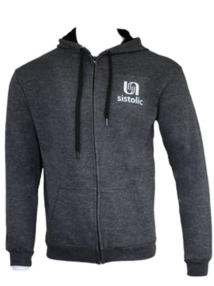 Men's Warm Up Zipped Hoody - Charcoal Grey