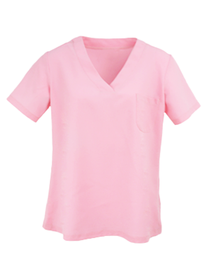 Ladies Natural Selection Scrub Top - Pastel Pink