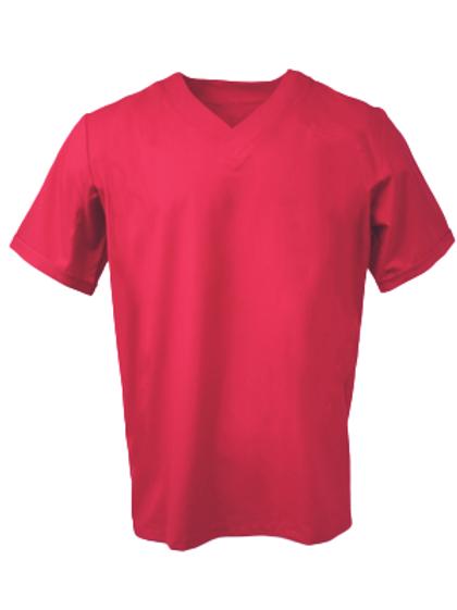 Men's Survival Selection Scrub Top - Dark Red