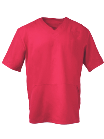 Men's Fit Scrub Top - Dark Red