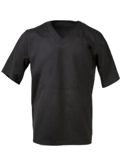 Men's Fit Scrub Top - Black