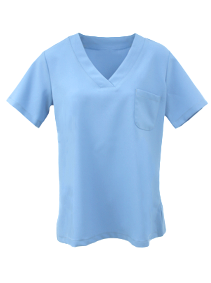 Ladies Natural Selection Scrub Top - Medical Blue