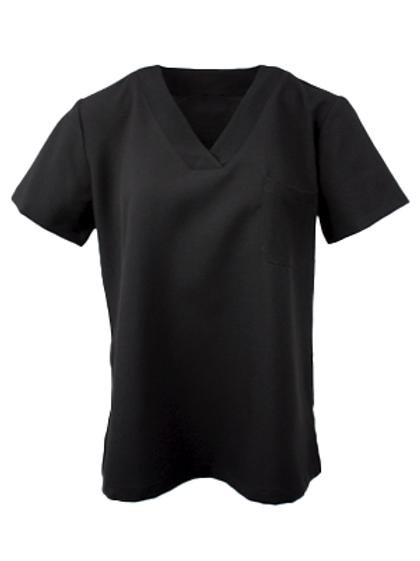 Ladies Natural Selection Scrub Top - Black