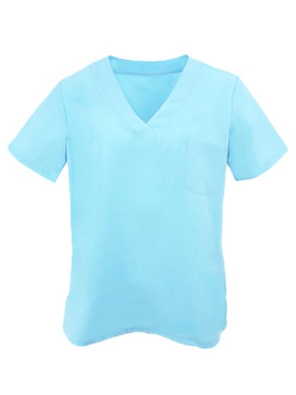 Ladies Natural Selection Scrub Top - Pastel Blue