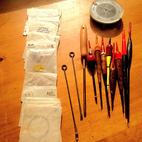Vinage Hooks, Floats, Shot & Disgorgers