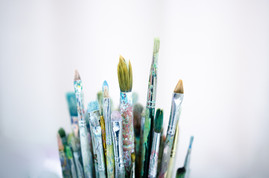 bigstock-Various-Dirty-Paintbrushes-On--