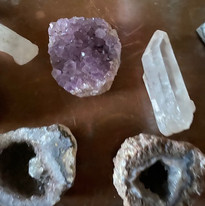 crystals on the altar