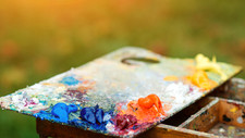 bigstock-Acrylic-Colors-On-A-Dirty-Pale-
