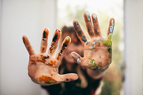 bigstock-Artist-Showing-Her-Messy-Hands-