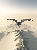 bigstock-Grey-Dragon-Flight-Over-Snowy--