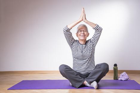 bigstock-Healthy-Senior-Woman-Doing-Pil-