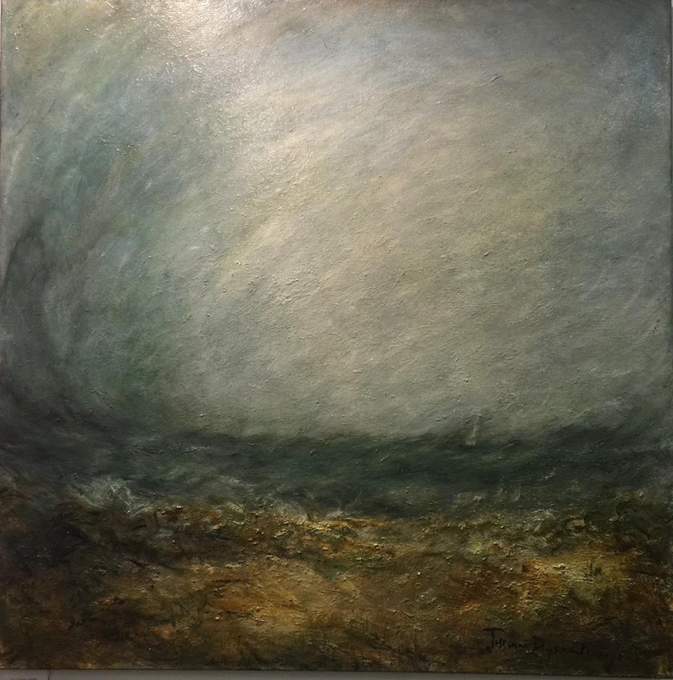 "Eye of the Storm, 40"" x 40"""