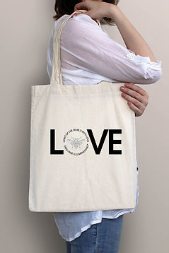 canvas tote bag light up the world with love erin jane illuminations