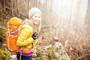 bigstock-Woman-Hiking-In-Autumn-Forest--