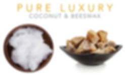 Pure Luxury Coconut and Beeswax Candles