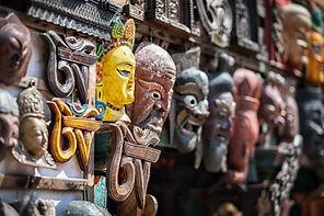 bigstock-Souvenir-Masks-At-Nepal-Market-
