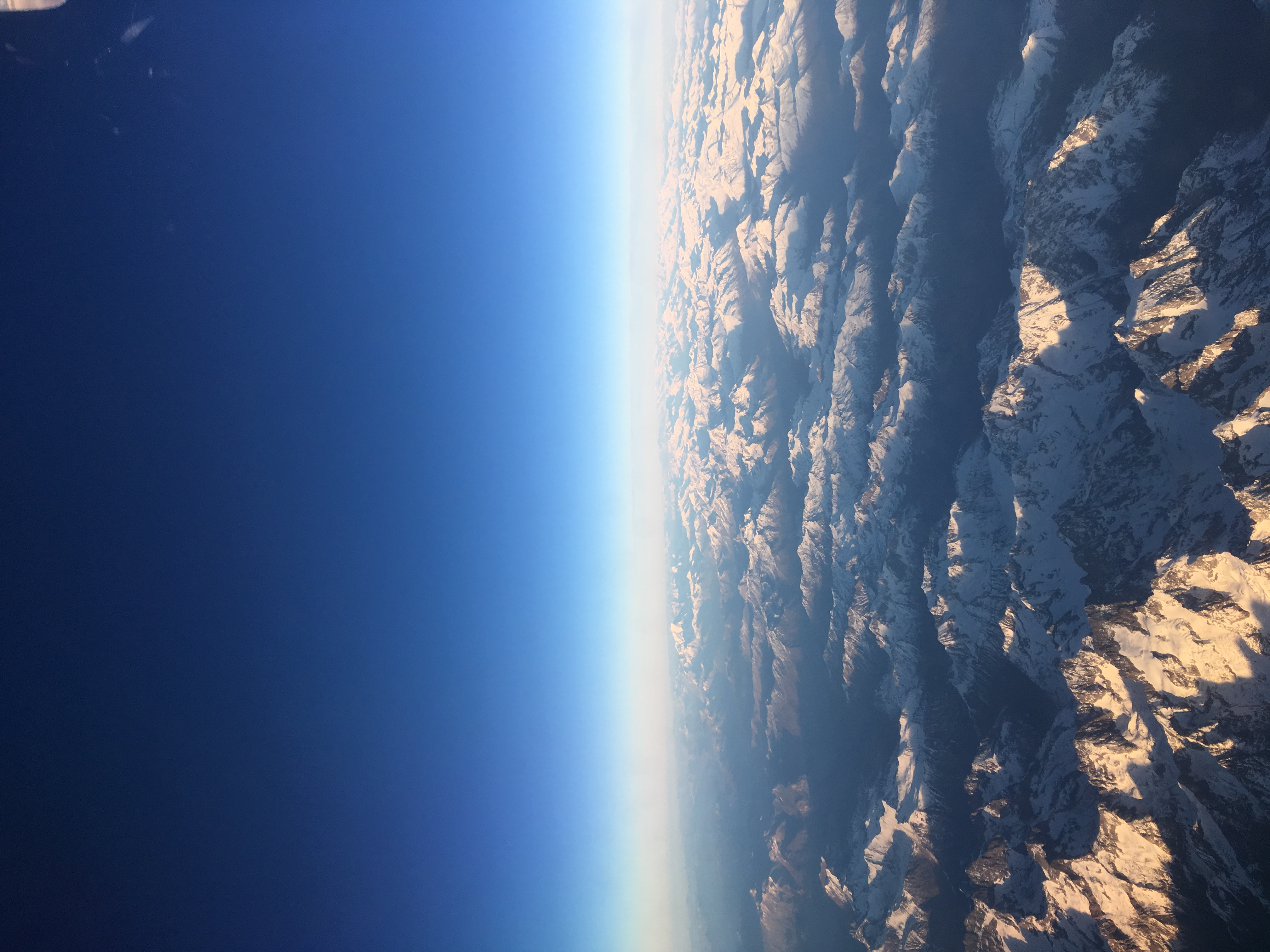 The Alps from the plane