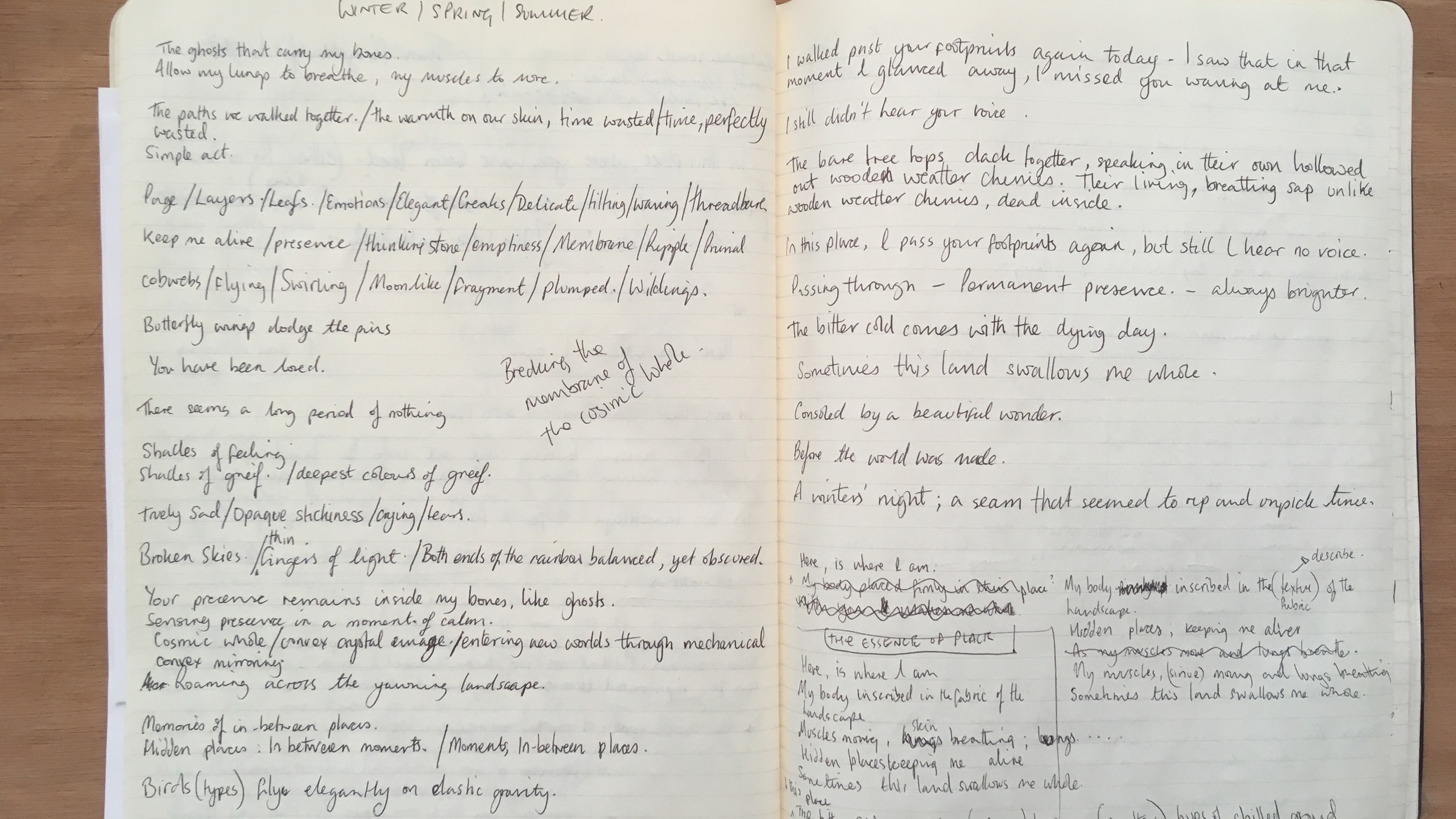 Writing 'The Essence of Place'