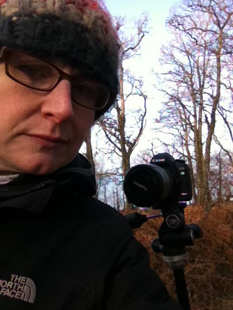Filming at RSPB Loch Lomond