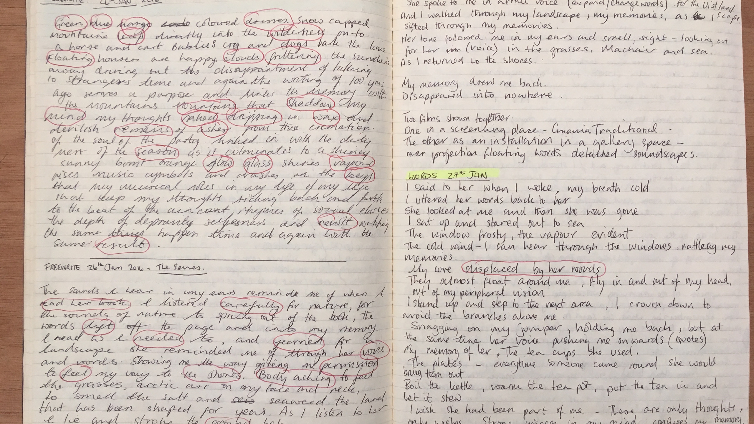 An example of a free write