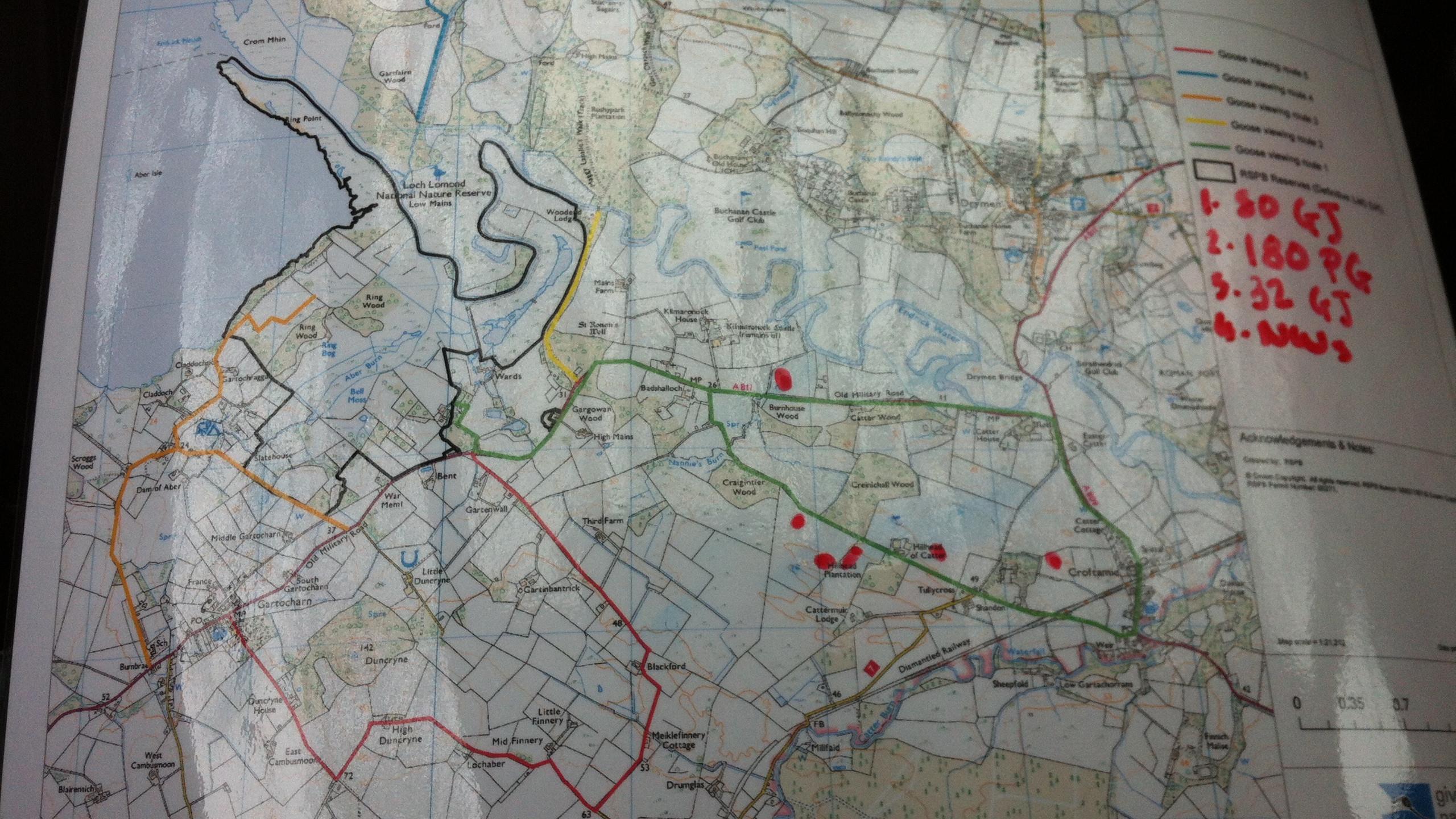 Map of RSPB Loch Lomond