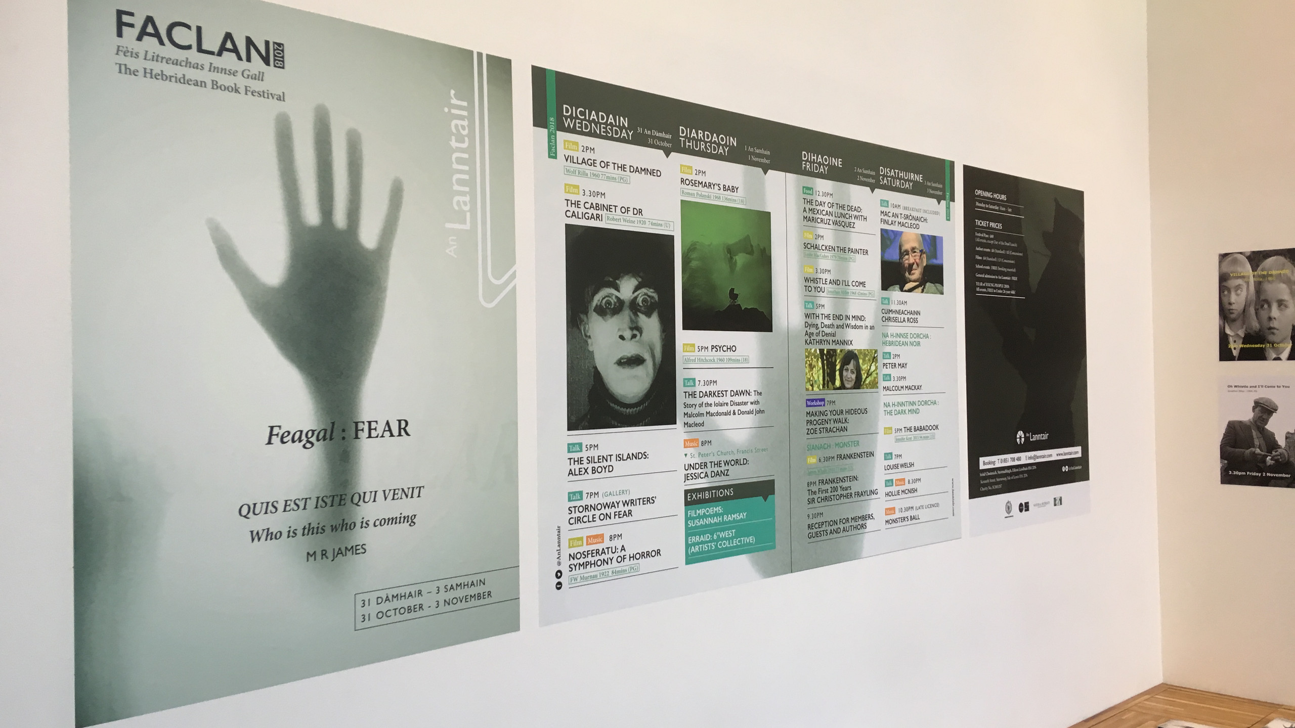 Fanclan posters.