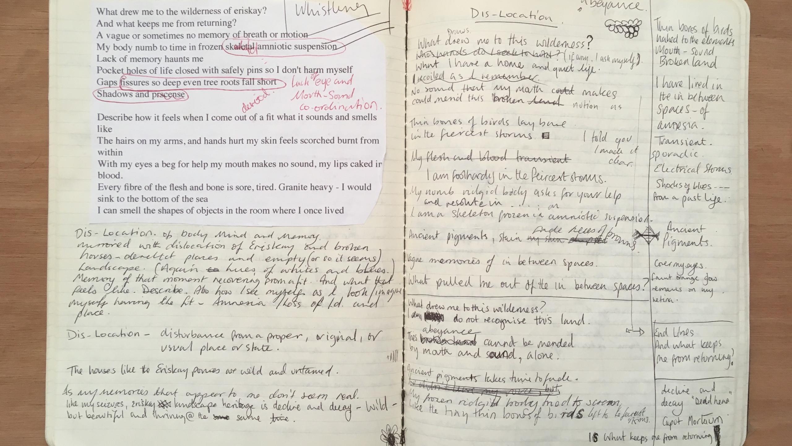 Writing 'Dislocation'