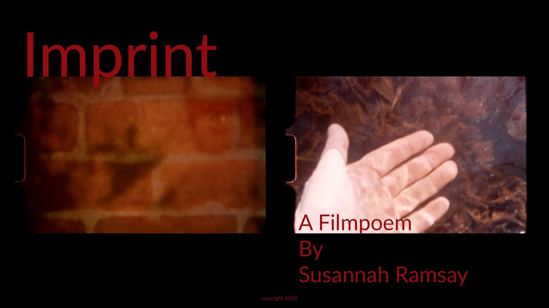Imprint film poster