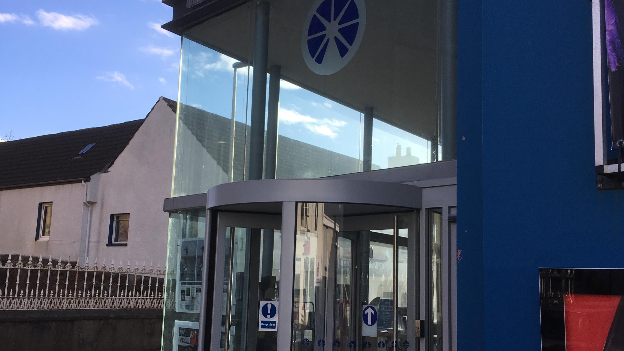 Entrance to An Lanntair Arts Centre.