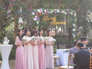 "[J and I wedding] Vol.7~""婚後記錄"": 網購漸變色調Bridesmaid dress!!"