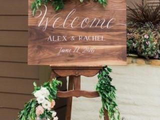 森系-尤加利葉 signage flower x 木牌Welcome Board