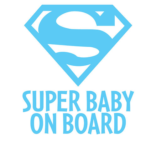 Sticker Super Baby on Board
