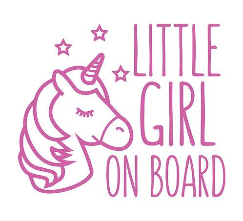Sticker Little Girl on Board