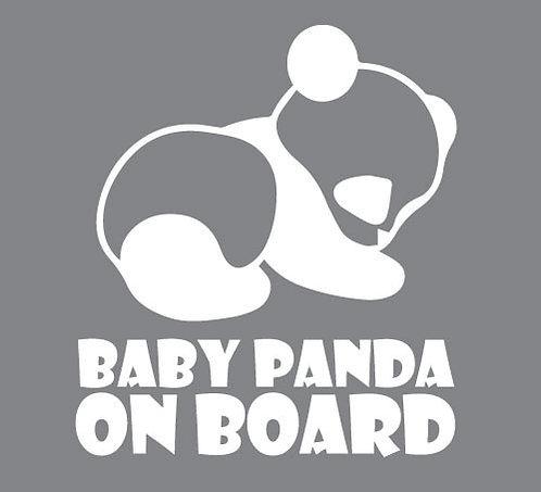 Sticker Baby Panda on Board