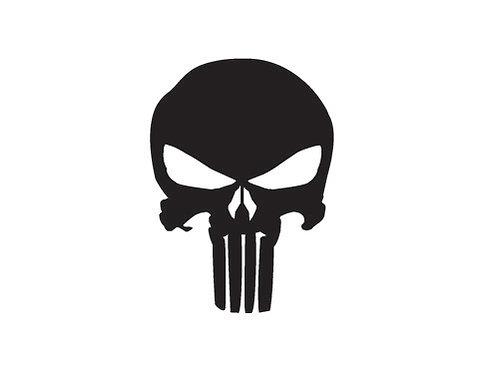 Sticker Punisher Skull
