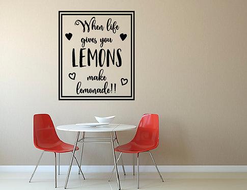 """Αυτοκόλλητο Τοίχου """"Lemons"""""""