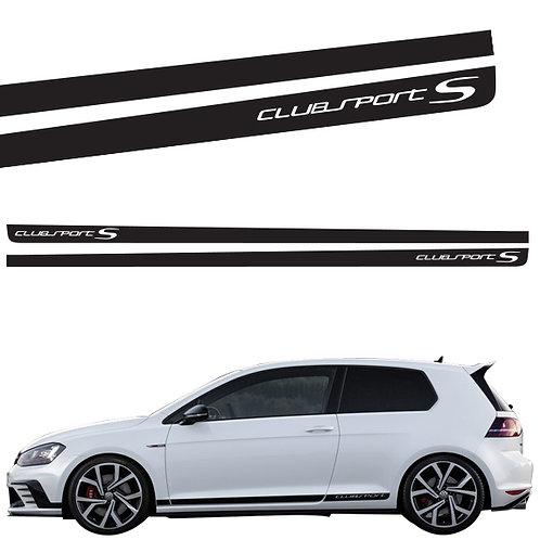 Volkswagen Golf Clubsport side stickers