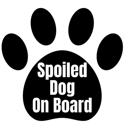Sticker Spoiled Dog on Board