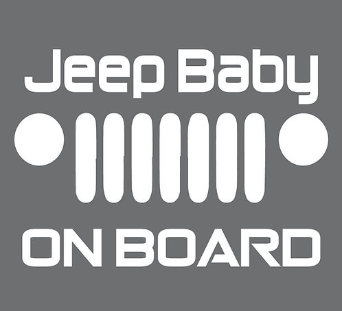 Sticker Jeep Baby on Board