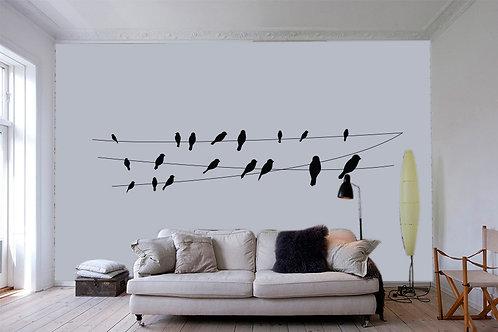 """Αυτοκόλλητο Τοίχου """"Birds"""""""