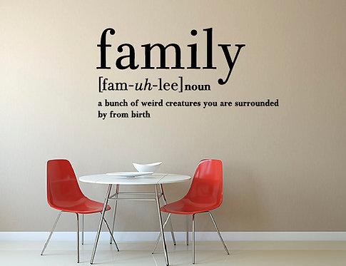 """Αυτοκόλλητο Τοίχου """"Family"""""""