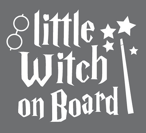 Sticker Little Witch on Board