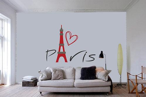 """Αυτοκόλλητο Τοίχου """"Paris"""""""