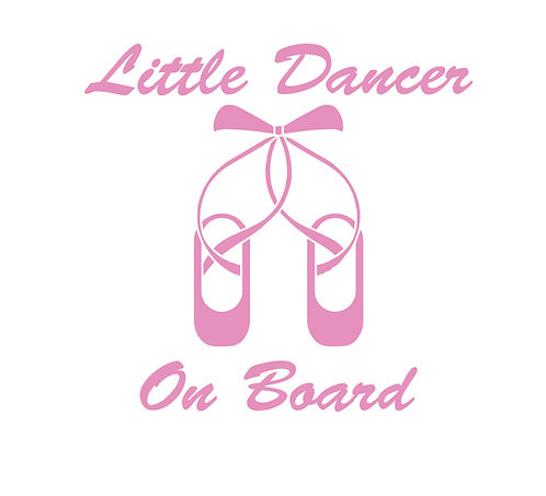 Sticker Little Dancer on Board