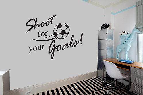 """Αυτοκόλλητο Τοίχου """"Shoot for your Goals"""""""